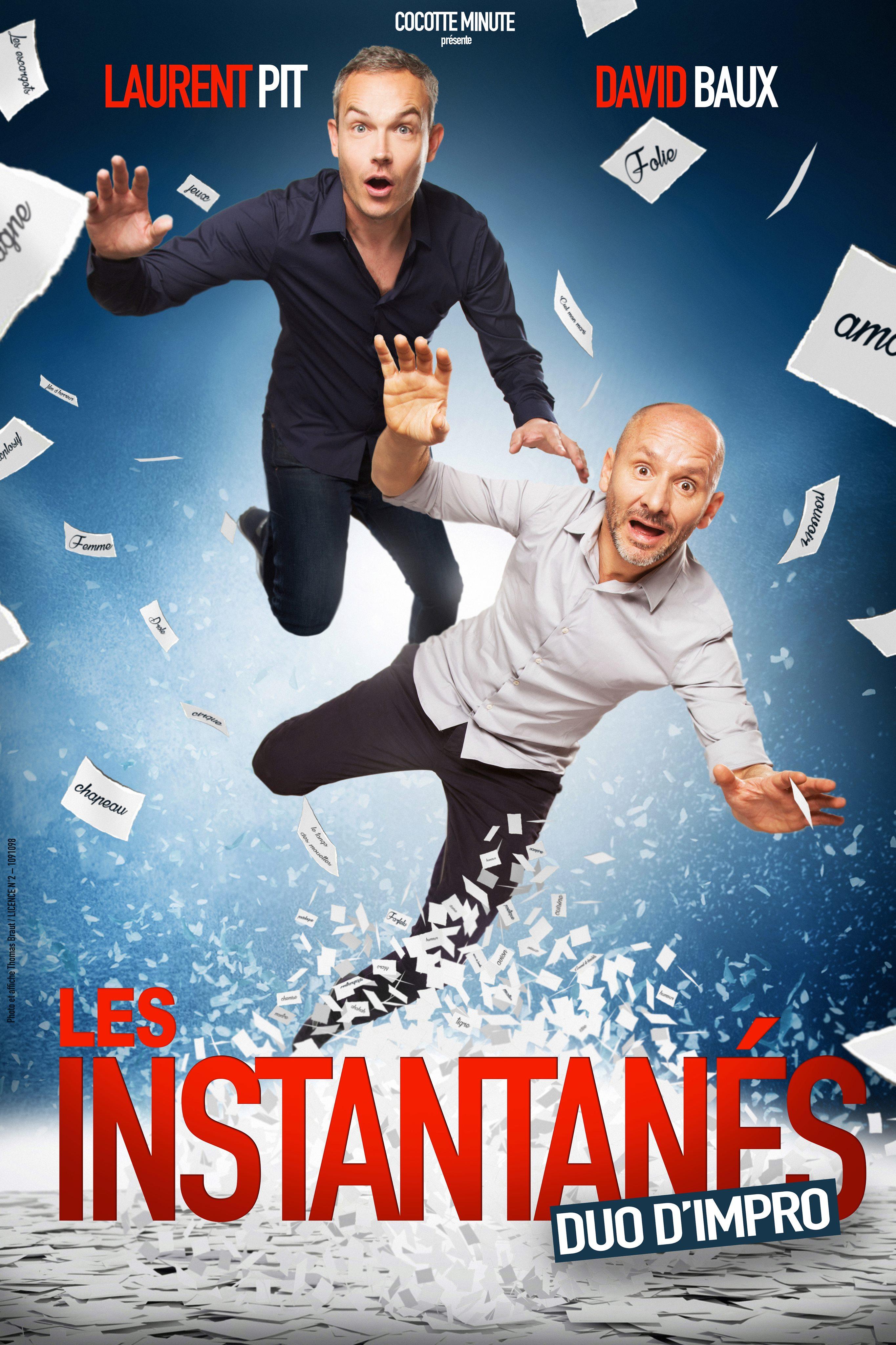Laurent Pit et David Baux dans « Les Instantanés » Duo d'Impro